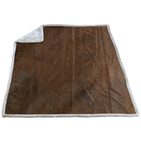 Vintage (20195) Rustic Faux Leather Throw Thumb