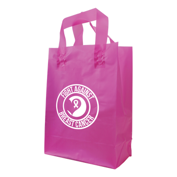 Medium Frosted Plastic Shopper