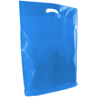 Blue Large Die Cut Plastic Bag Thumb
