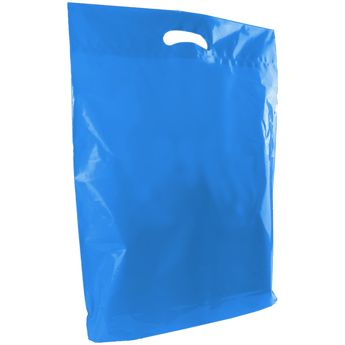 Blue Large Die Cut Plastic Bag