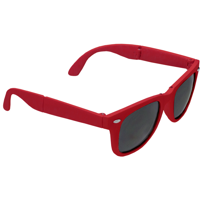 Red Reno Folding Sunglasses
