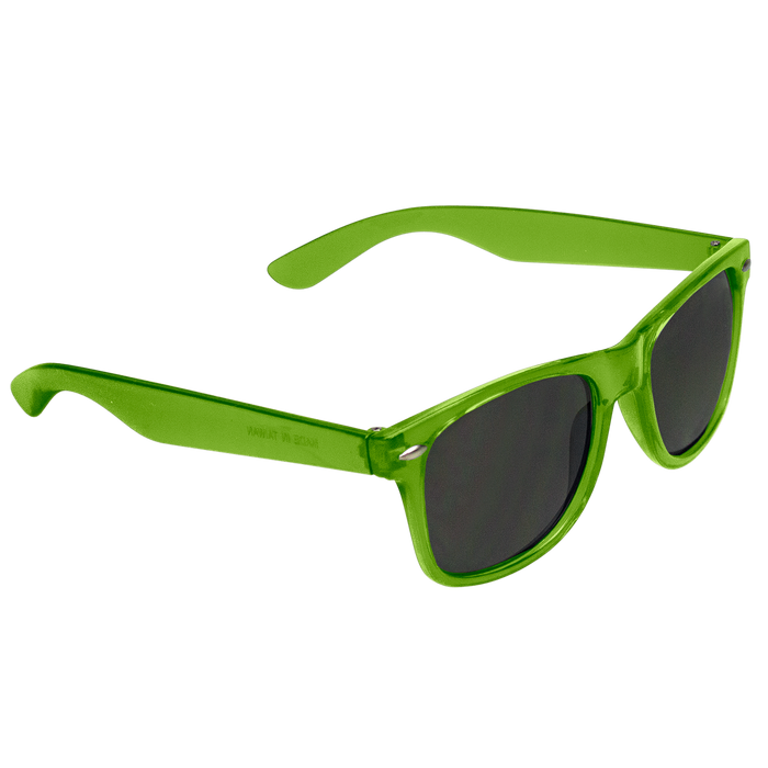 Transparent Lime Classic Color Sunglasses
