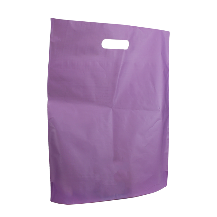 Lavender Large Frosted Die Cut Bag