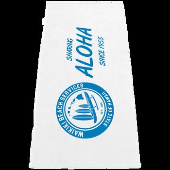 Built-In Pocket White Beach Towel