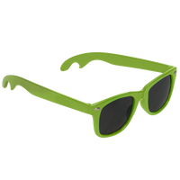 Lime Green Panama Bottle Opener Sunglasses Thumb