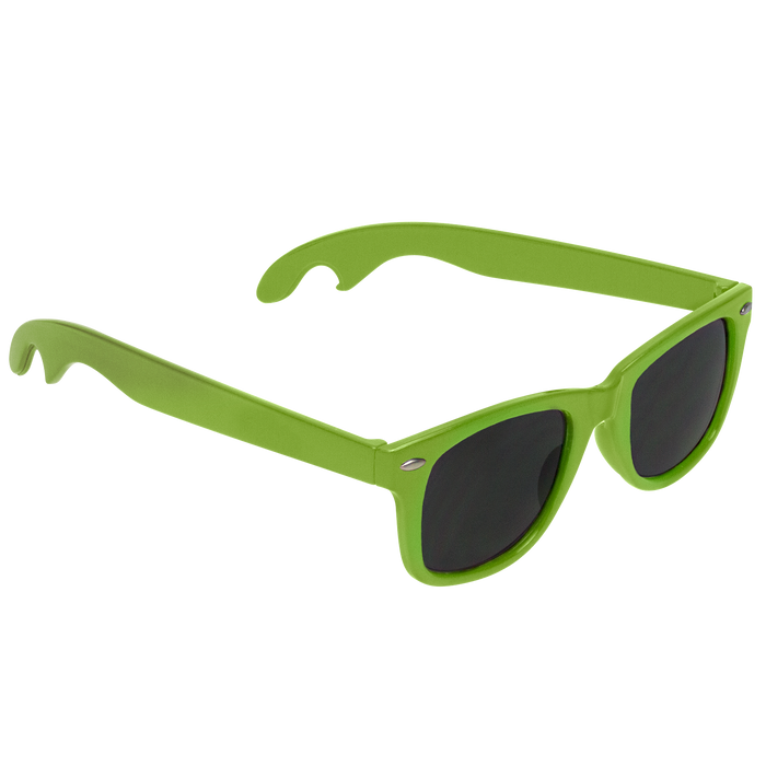 Lime Green Panama Bottle Opener Sunglasses