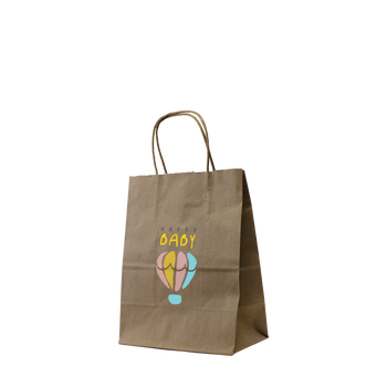 Extra Small Kraft Paper Shopper Bag