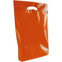 Orange Medium Eco-Friendly Die Cut Plastic Bag Thumb