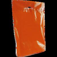 Orange Medium Eco-Friendly Die Cut Plastic Bag Thumb