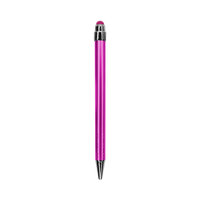 Pink with Black Ink Chrome Stylus Pen Thumb