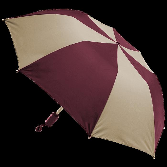 Burgundy/Tan Classic Umbrella