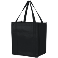 Black Thrifty Grocery Tote Thumb