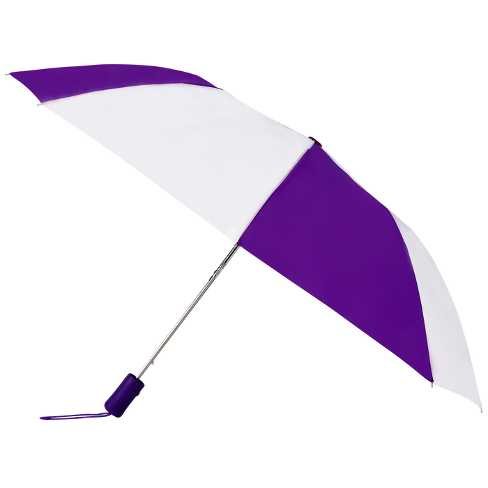 Purple/White Atlas Umbrella