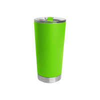 Neon Green Small Stainless Steel Insulated Tumbler Thumb