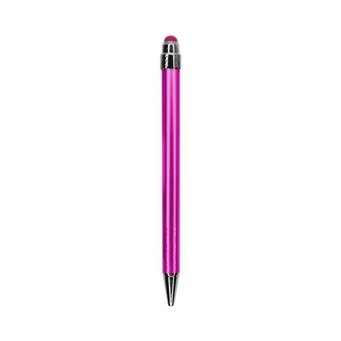 Pink with Blue Ink Chrome Stylus Pen