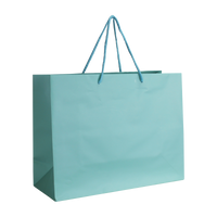 Aqua Medium Matte Shopper Bag Thumb