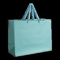 Aqua Medium Matte Shopper Bag Thumb