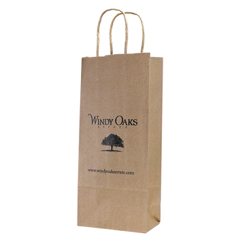 Natural Kraft Paper 1 Bottle Tote