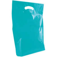Teal Medium Die Cut Plastic Bag Thumb
