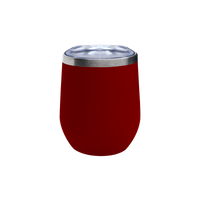 Matte Red Vacuum Insulated Stemless Wine Tumbler Thumb