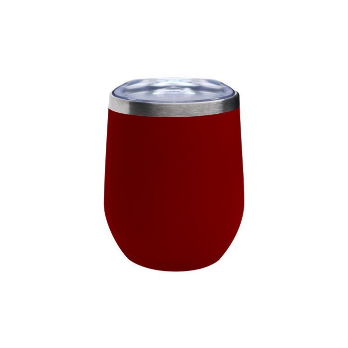 Matte Red Vacuum Insulated Stemless Wine Tumbler