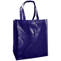 Navy Blue Laminated Big Storm Grocery Bag Thumb