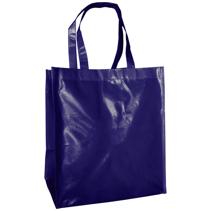 Navy Blue Laminated Big Storm Grocery Bag