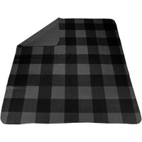 Charcoal Plaid Full Color Blanket Thumb