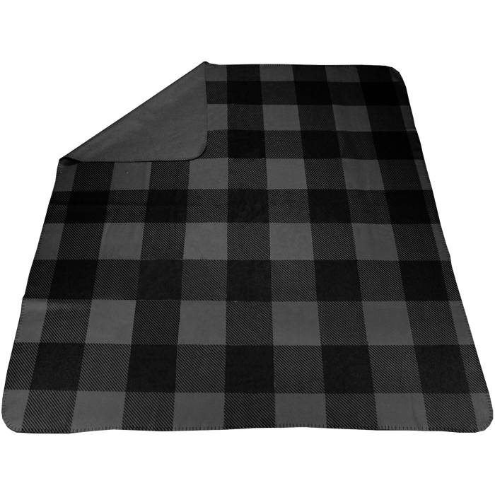 Charcoal Plaid Full Color Blanket