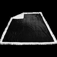 Black Breckenridge Faux Lambswool Blanket Thumb