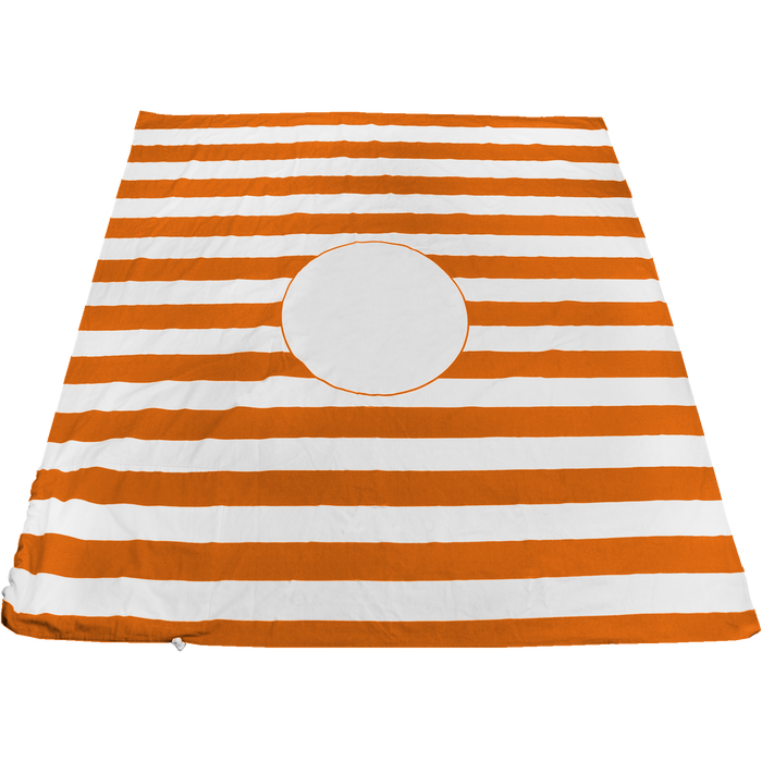 Orange Mainland Beach Blanket Bag