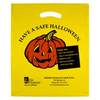 Yellow Yellow Pumpkin Halloween Bag Thumb