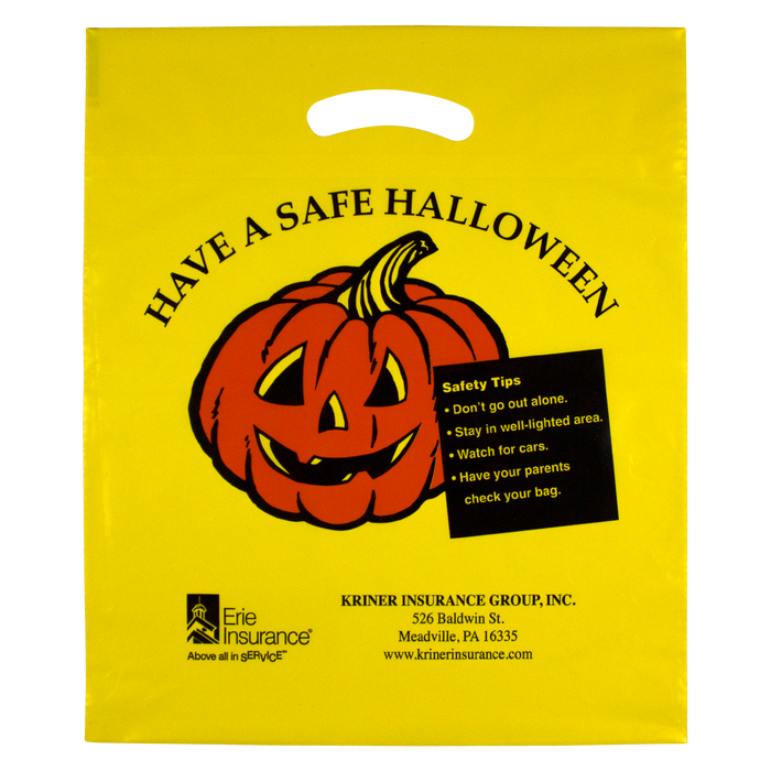 Yellow Yellow Pumpkin Halloween Bag