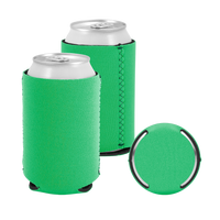 Lime Green Premium Collapsible Neoprene Koozie Thumb