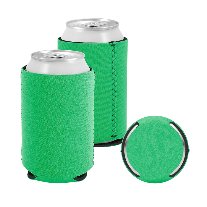 Lime Green Premium Collapsible Neoprene Koozie