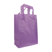 Lavender Small Frosted Plastic Shopper Thumb
