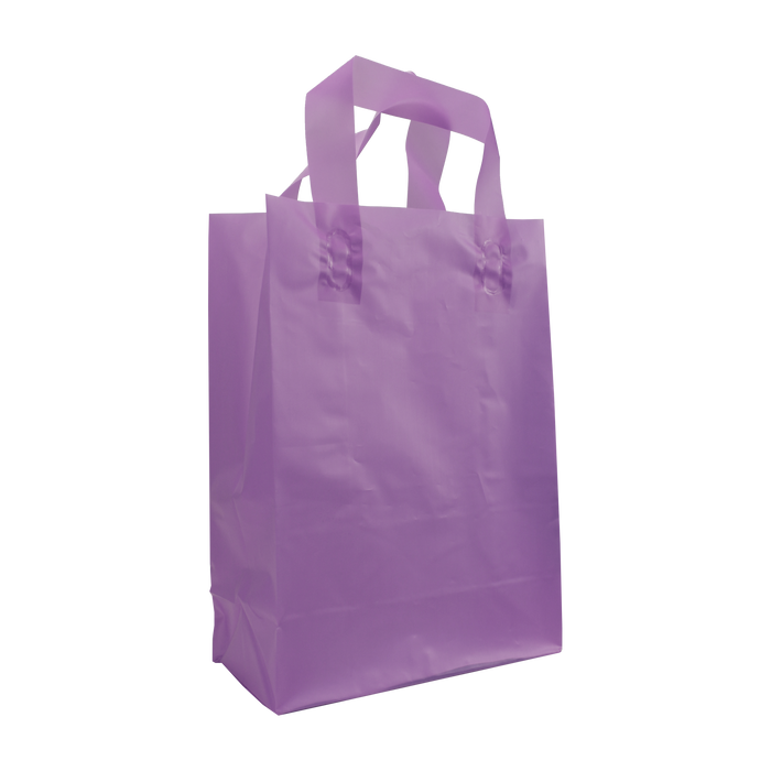 Lavender Small Frosted Plastic Shopper