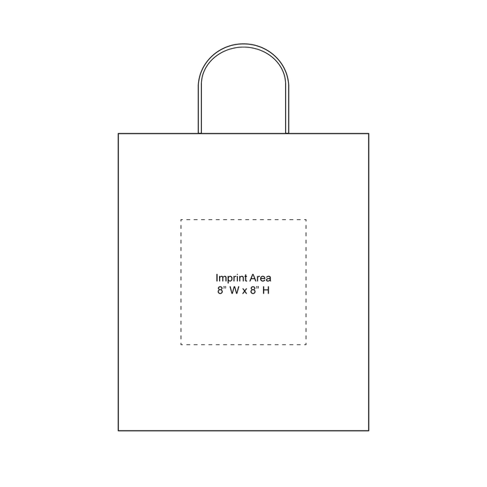 Tall White Paper Bag