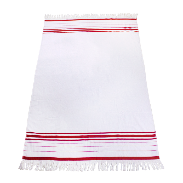 Red Windsor Fringed Beach Towel