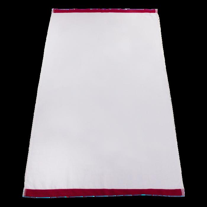 Red Heavyweight Colored Edge Beach Towel