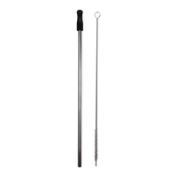 Reusable Stainless Straw Kit with Pouch Thumb