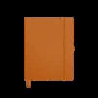 Orange Medium Soft Faux Leather Journal Thumb