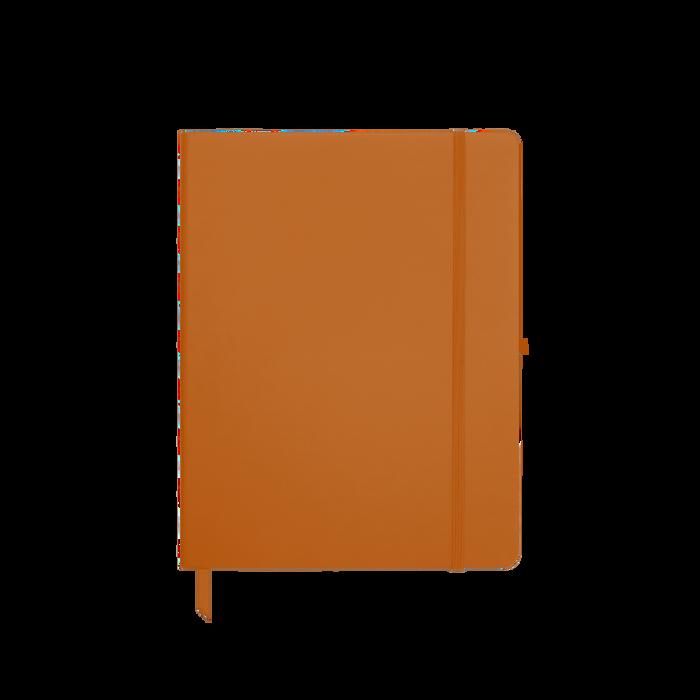 Orange Medium Soft Faux Leather Journal