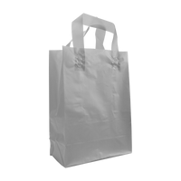 Silver Small Frosted Plastic Shopper Thumb