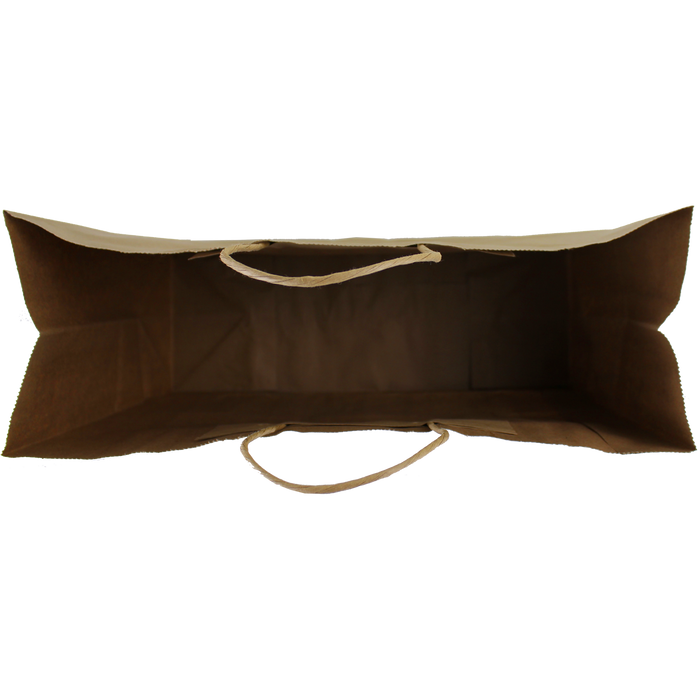 Extra Wide Kraft Paper Shopper Bag