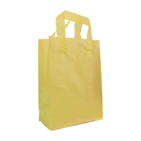 Yellow Small Frosted Plastic Shopper Thumb