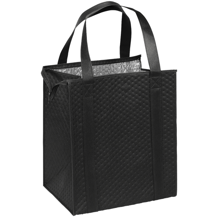 Black Large Insulated Cooler Tote