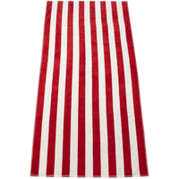Red Latitude Plus Striped Beach Towel Thumb
