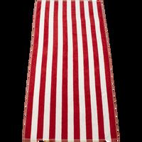 Red Latitude Plus Striped Beach Towel Thumb
