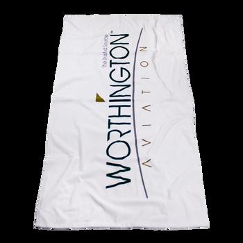 Standard Weight American Made White Beach Towel